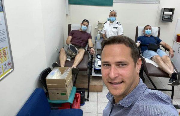 ראש העיר רז קינסטליך בפוסט מרגש ומלא השראה שמעודד לתרום דם