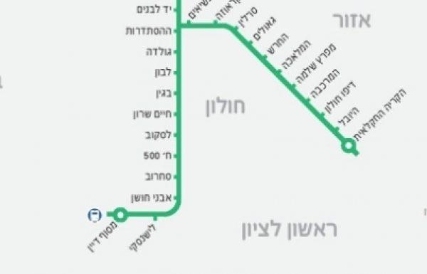 """שינויים בהסדרי התנועה: חברת נת""""ע (נתיבי תחבורה עירוניים) מתקדמת בביצוע העבודות להקמת הקו הירוק בראשון לציון"""